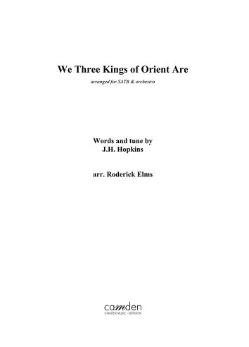 We Three Kings (score and parts)